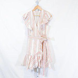 Rebecca Taylor Yarn Dyed Stripe Wrap Dress